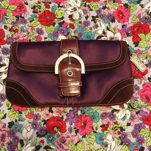 Coach Madison clutch limited edition satin purple